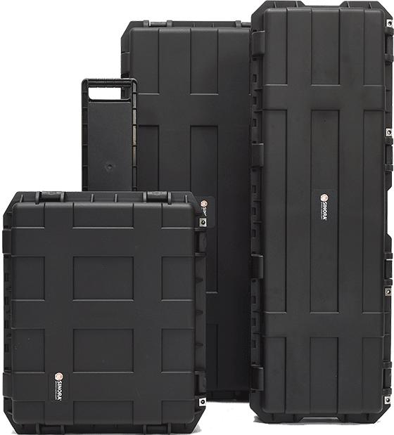 Sinora Qualitäts-Kunststoffkoffer mit Cross-Rip Design in verschiedenen Größen